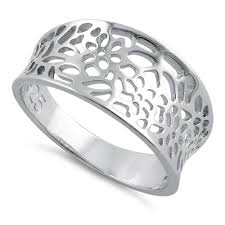 silver flowers sterling silver flowers ring