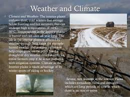 The Interior Plains Climate 6 Physical Regions Of Canada