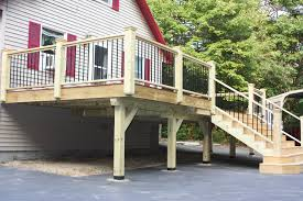 new deck built by ryan kelley with pressure treated wood and