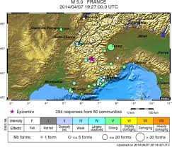Montpellier France Map by Rare Earthquake Strikes Southern France