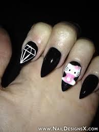cute hello kitty stiletto nails nail designs u0026 nail art trendy