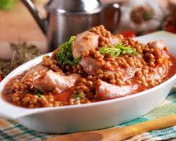 recette cuisine az recette lentilles à la saucisse de morteau