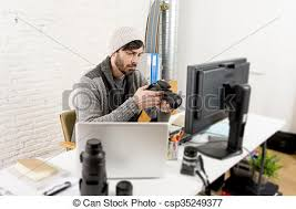 sien bureau photographe travail examen appareil image