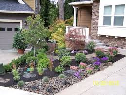 beautiful front yard landscaping ideas with rocks decorating rock