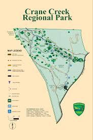 Buckeye Trail Map Crane Creek Regional Park Map