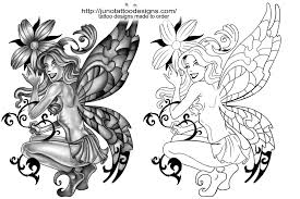 Fairy And Flower Tattoo Designs Fairy Tattoos Custom Tattoos Made To Order By Juno Professional