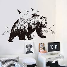 Branch Decorations For Home by Aliexpress Com Buy 3d Mountain Bear Animal Wall Stickers Vinyl