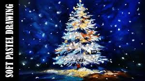 christmas tree with snow drawing christmas tree with soft pastels in the snow tree