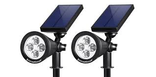 commercial electric led spike light 500 lumens green deals 2 pack solar outdoor lights 19 50 reg 26 more