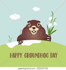 groundhog day cards happy groundhog day card vector photo bigstock