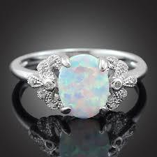 white fire rings images Haimis wholesale retail elegant oval white fire opal stones women jpg