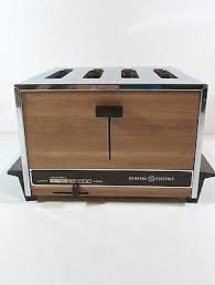 Toaster Retro Vintage Ge General Electric 4 Slice Pop Up Retro Toaster Wood