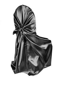 Cheap Universal Chair Covers Universal Satin Self Tie Chair Cover Black At Cv Linens Cv Linens