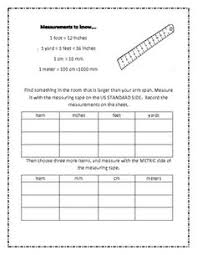 yards feet and inches worksheets for 3rd grade worksheets