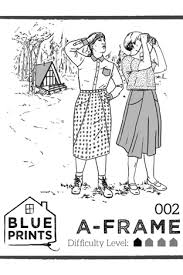 a frame blueprints a frame sewing pattern by blueprints for sewing