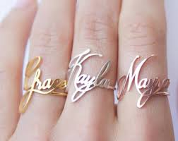 rings with children s names childrens name ring etsy