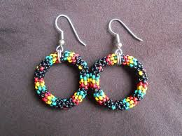 reggae earrings arresting beaded hoop earrings rasta reggae american style