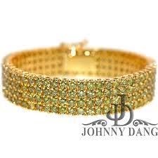 bracelet diamond yellow images Custom men 39 s diamond bracelets johnny dang co jpg