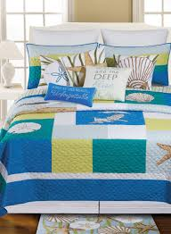 Seashell Queen Comforter Set C U0026 F Enterprises Quilts Clearance U2013 Ease Bedding With Style
