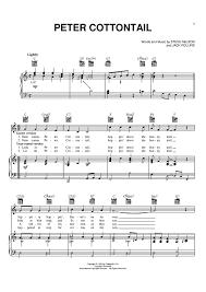 peter cottontail sheet music music piano