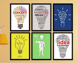 creative home decor painting on canvas inspirational quotes bulb