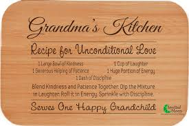 recipe engraved cutting board wood gifts spotted moon