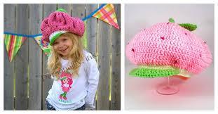 Strawberry Shortcake Halloween Costume Strawberry Hat Free Crochet Pattern Knitting Pattern