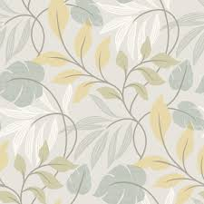beacon house eden blue modern leaf trail wallpaper 2535 20628