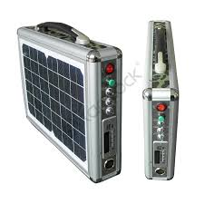 Solar Home Lighting System - 10w super bright ultra thin portable solar home lighting system