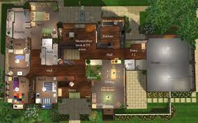mod the sims contemporary ranch a roomy 4 bedroom home