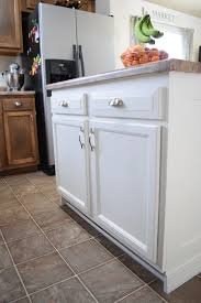 how to trim base cabinets add molding to a builder grade kitchen island an easy how