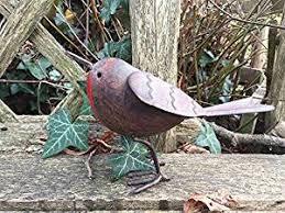 metal robin garden ornament co uk garden outdoors