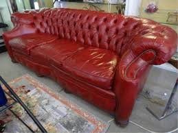 Chesterfield Leather Sofa Used by 51bidlive Chesterfield Style Leather Sofa By Old Hickory Tannery