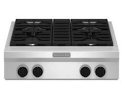 Best Gas Cooktops 30 Inch Kitchenaid Kgcu407vss Pro Style 30