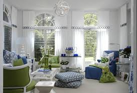 blue and green living room interior design