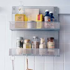 Kitchen Spice Rack Ideas Design Ideas Mesh Wall Mounted Spice Rack And Organiser