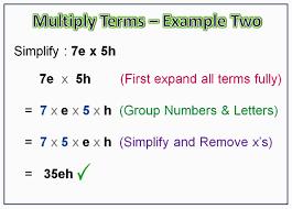 multiplying basic algebra terms passy u0027s world of mathematics