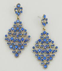 blue earrings diamond drop earrings blue