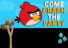 angry birds invitation that you can write on if you want to