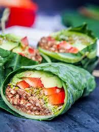 cuisine vegetalienne vegan recipes collard wraps gluten free paleo