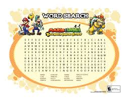 super mario boy super mario printable word searches