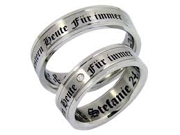 verlobungsringe paar ringe mit lasergravur kwo trauringe