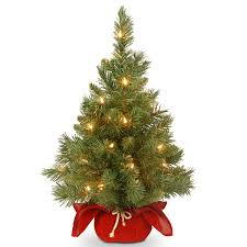 mini christmas tree with lights christmas decor