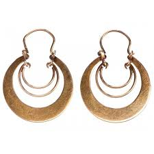 20 s earrings 1920s gold hoop earrings erie basin liked on polyvore