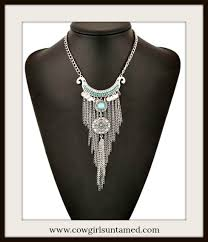 turquoise necklace silver chain images Necklaces cowgirl jewelry cowgirls untamed jpg