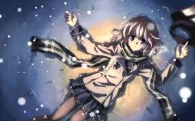 winter anime wallpaper hd anime wallpaper hd white girl hair blue eyes scarf snow winter cold