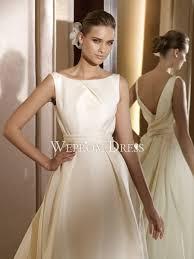 natural sleeveless organza ivory draped backless a line wedding