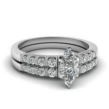 marquise cut wedding set wedding rings marquise cut wedding ring sets