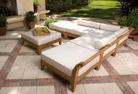 Teak Sectional Patio Furniture Los Angeles Deep Seat Sofa Patio Transitional With Seating Chimney
