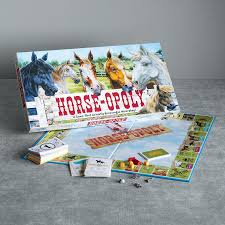 horse opoly game whimsy decor home furnishings robert